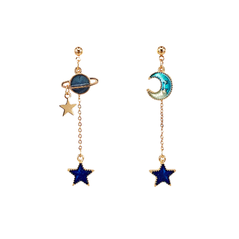 Moon Star Earrings Moon Hoop Earrings