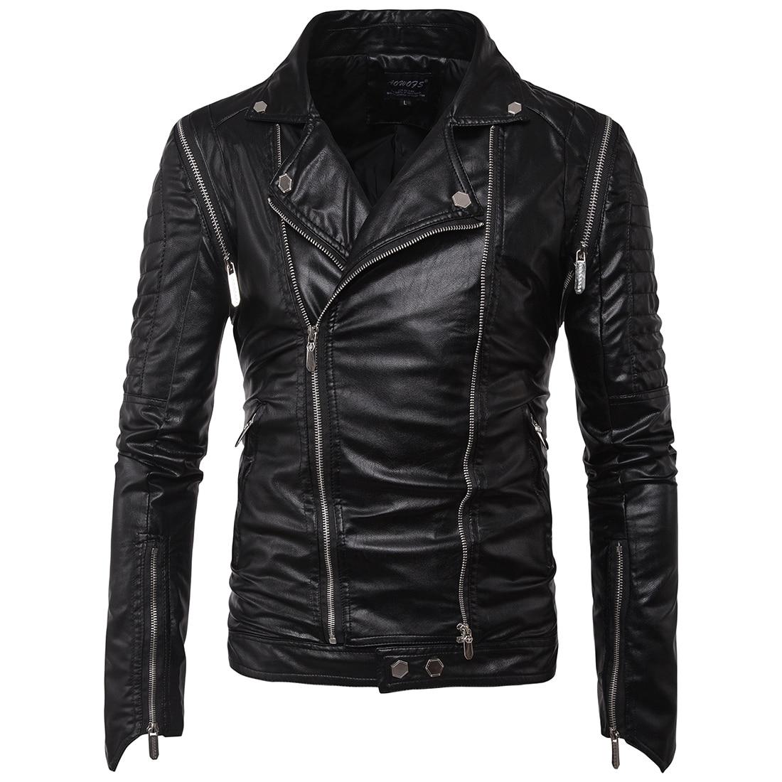 Pu Punk 2018 M vêtements Style Marque Manteau Loldeal Faux Moto Biker Noir Veste Printemps Automne Cuir 5xl Casual 6ddqw8C