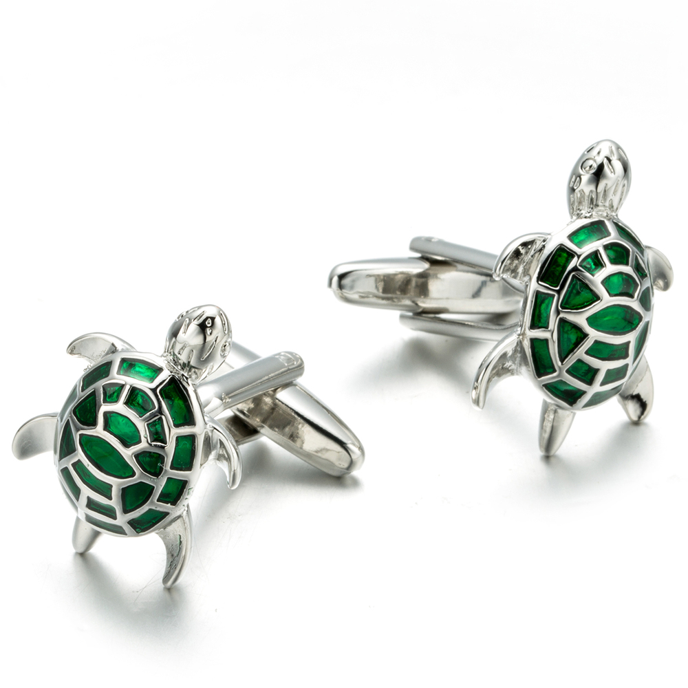 VAGULA Cufflinks Turtle-Gemelos Designer Jewelry French-Shirt Copper Men 690 Tortoise