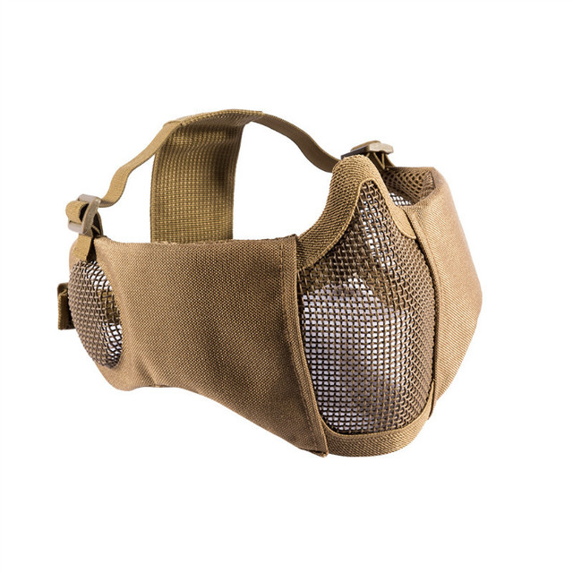 OneTigris Tactical Foldable Mesh Mask With Ear Protection for Airsoft Paintball with Adjustable Elastic Belt Strap