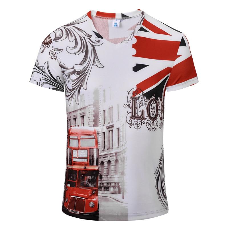 2019 Menswear Original Design Retro Digital Print V-ausschnitt Frauen Kurzarm T-shirt Sommer B Männer Baumwolle Tees T-shirts