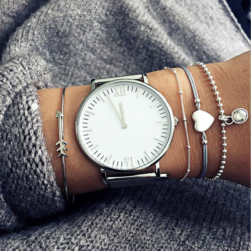New Fashion Jewelry Bracelet Women's Fashion And Personality Arrow Love Hearts Bangle Bracelet Sets Selling Jewelry Wholesale