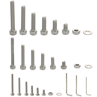 1080pcs Stainless Steel Screw and Nut Hex Wrenches Flat Washer Assortment Set Kit with Storage Box