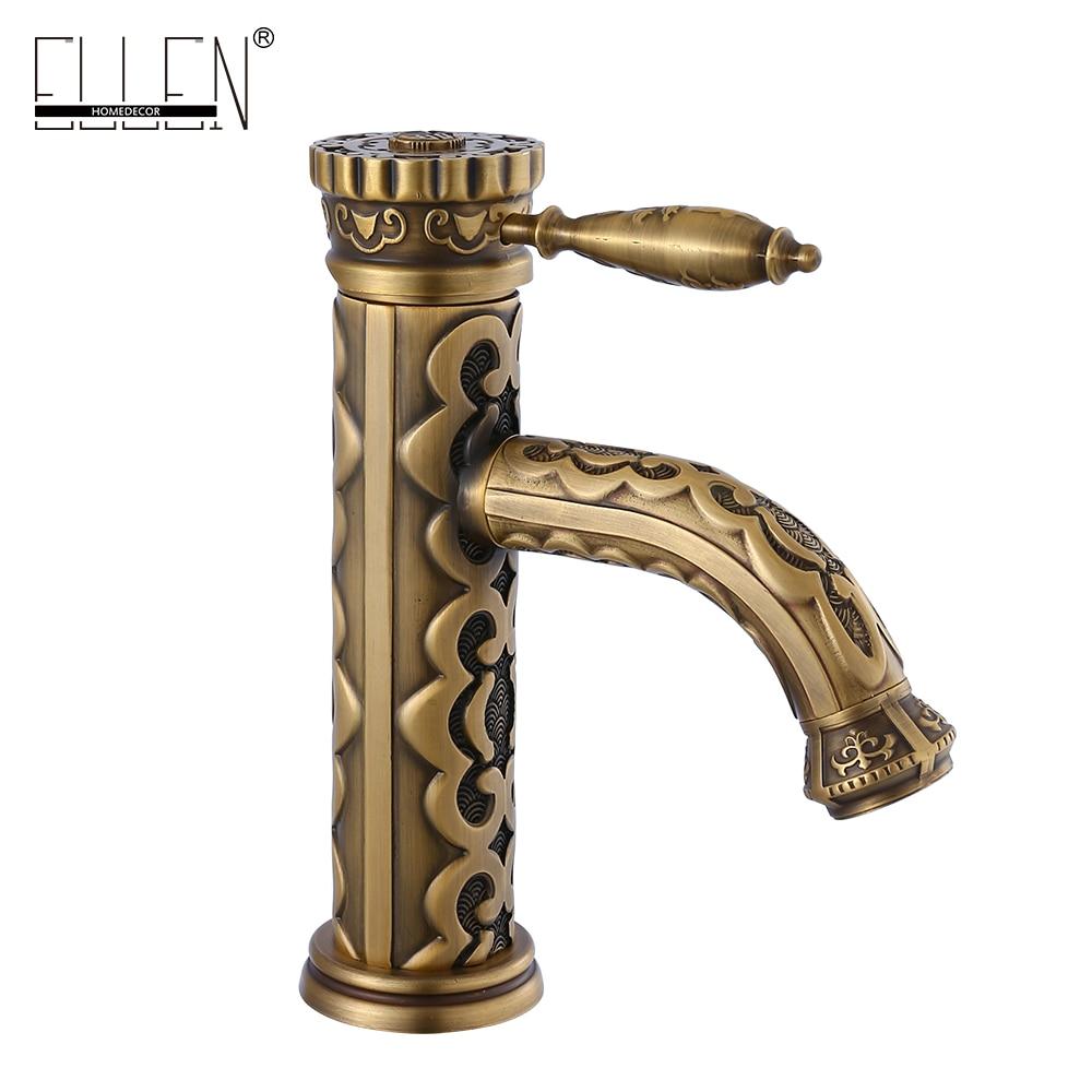 Antique Bronze Bathroom Sink Faucet Craved Brass Crane Hot and Cold Water Mixer Tap Basin Sink Faucets морган райс craved