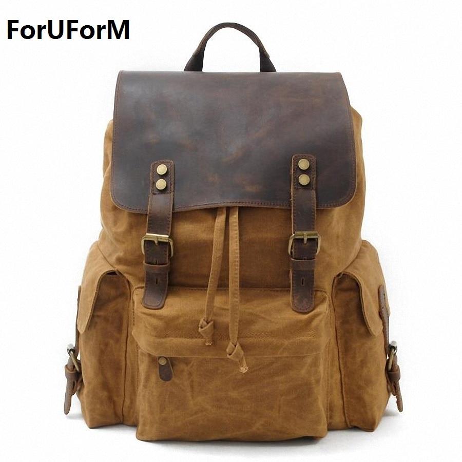 Laptop Backpack Men's Travel Bags 2017 Multifunction Rucksack Waterproof Canvas School Backpack For Teenagers Casual bag LI-1871