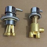 Mttuzk válvula de interruptor bronze água quente e fria para torneira da banheira misturador do chuveiro  conjunto da banheira torneira  torneira do banho válvula controle