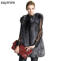 Hot Sale 2019 New Fashion Autumn/Winter Women Fake Fur Coat Women Loose Fake Fur Vests Jacket Long warm Parkas S 3XL