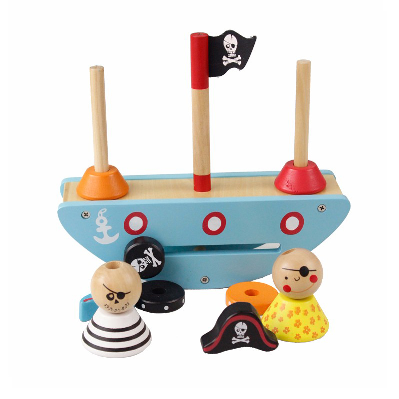 Детские игрушки деревянные БЛОК ЦИФРОВЫХ со СПИДом Монтессори образование для детей баланс игры пират обучающие игрушки для детей подарок