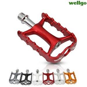 Image 3 - Wellgo Originele M111 Quick Release Non quick Release Fiets Pedalen Racefiets Ultralight Pedaal MTB Fietsen Bearing Pedalen