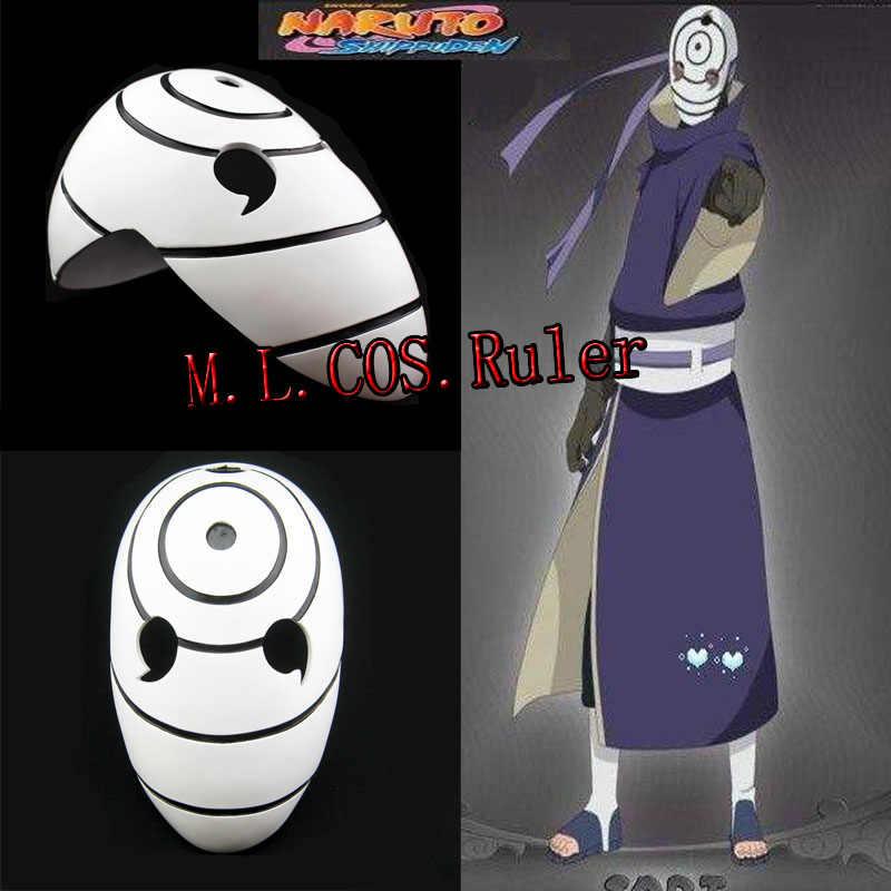 Uchiha Obito Madara Resin Mask Halloween Cosplay Props Anime Gifts For Naruto