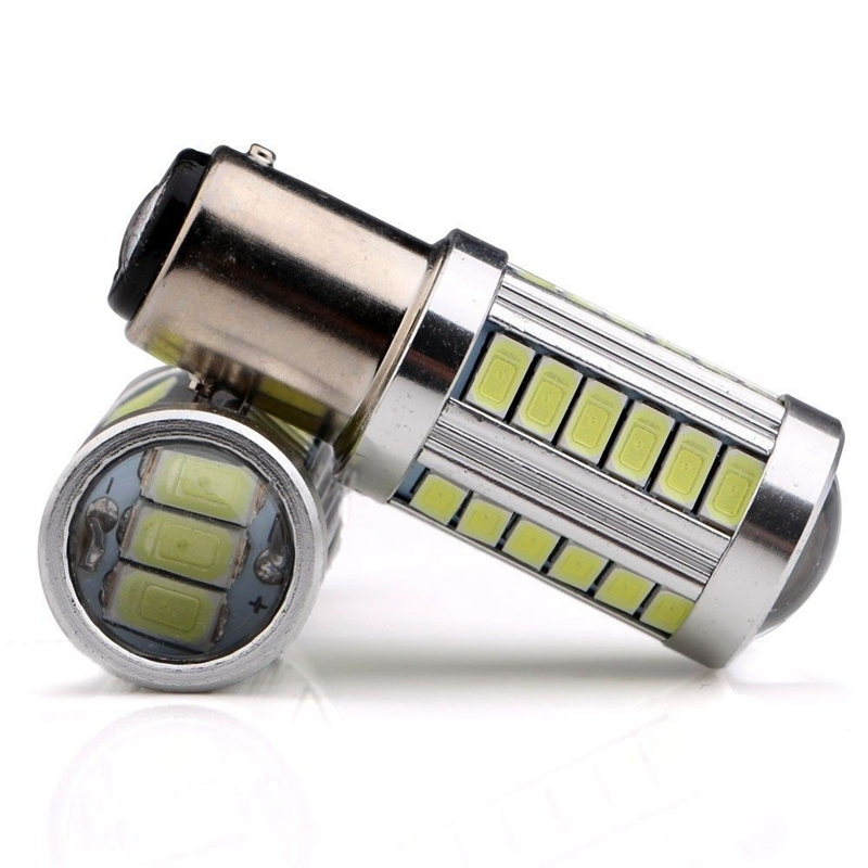 2pcs S25 P21W 1156 BA15S 1157 5630 33SMD 5730 LED high power led Car Auto led bulb light 33led