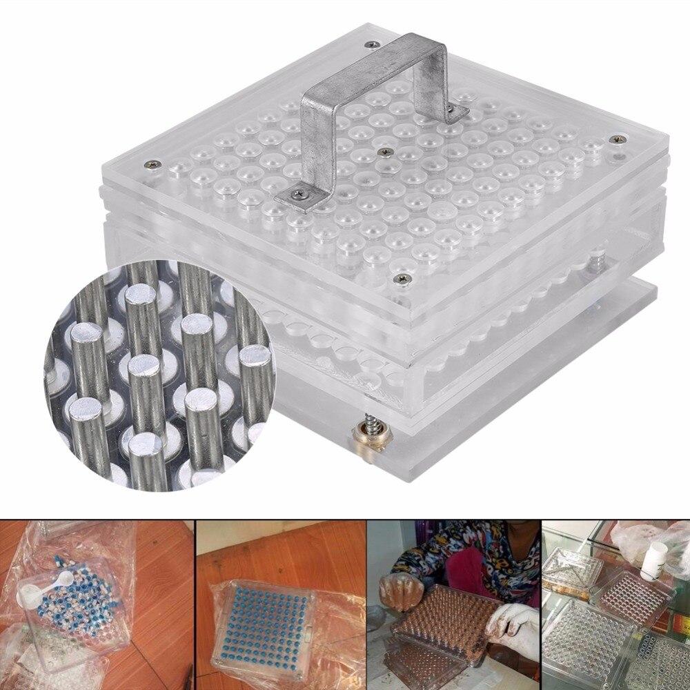 capsule filler machine Capsule filling Device Practical Pro 100 Holes Capsule Filler Size 0 Capsule Manual Machine Flate