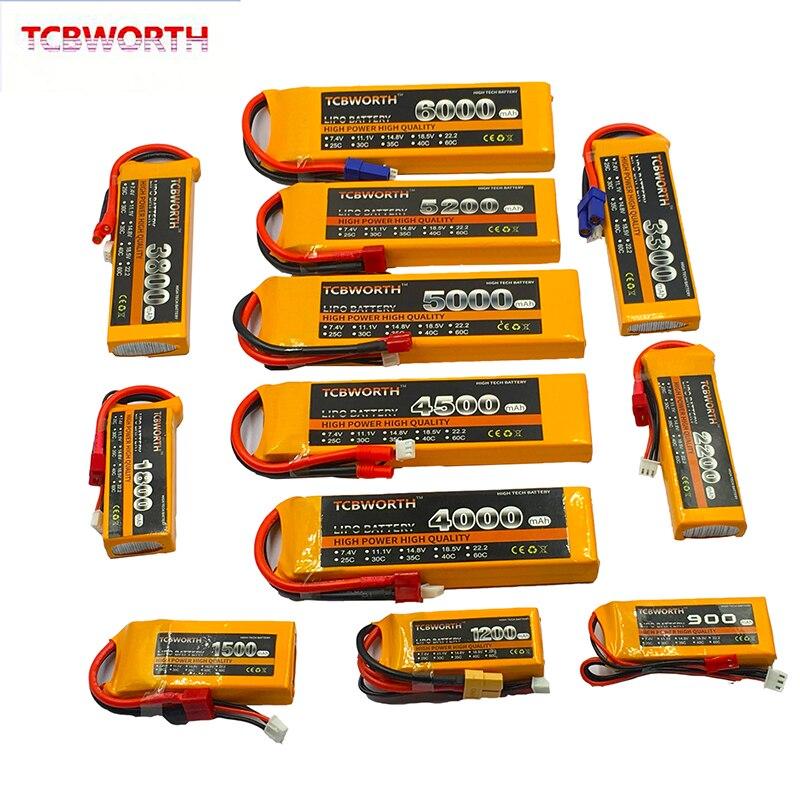 Радиоуправляемая игрушка LiPo Батарея 2S 7,4 v 900 мА/ч, 1300 мА/ч, 2200 мА/ч, 3300 мА/ч, 4500 мА/ч, 6000 мА/ч, 25C 35C для радиоуправляемый самолет, Квадрокоптер авто...