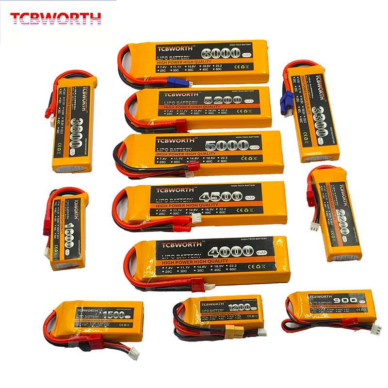 RC Toy LiPo <font><b>Battery</b></font> 2S <font><b>7.4v</b></font> 900mAh 1300mAh <font><b>2200mAh</b></font> 3300mAh 4500mAh 6000mAh 25C 35C For RC Airplane Drone Car Helicopter 2S LiPo image