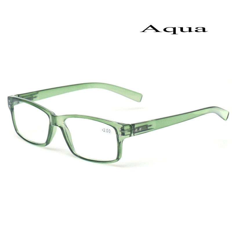 2018 Fashion Clear Plastic Men and Women Reading Glasses Rectangular - Apparel Accessories - Photo 2
