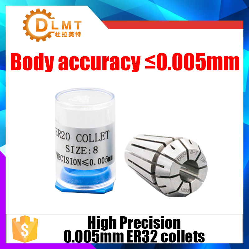 1PC ER32 Collets 1mm-20mm 3.175mm High Precision 0.005 Accuracy  ER 32 Spring Collet Suitable For ER Collet Chuck Holder