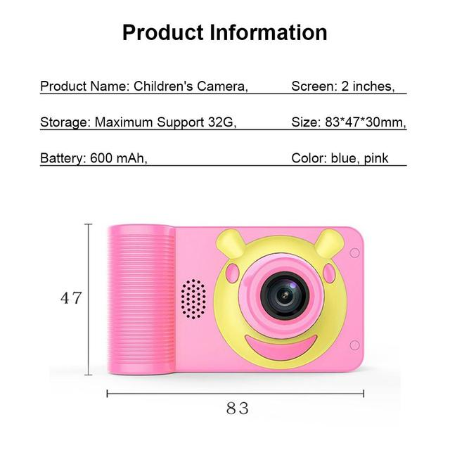 Mini 2.0 Inch HD Monitor Child 1080P Digital Camera Kid Digital Video Children Camera Birthday Toy Gift 5