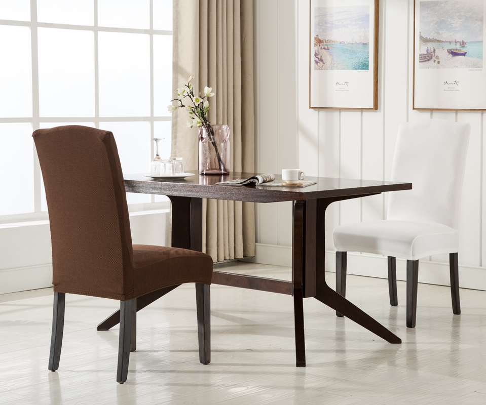 quality dining room chair covers chairs bali romanzo knitted fabric spandex cover one piece universal stretch customize slipcovers