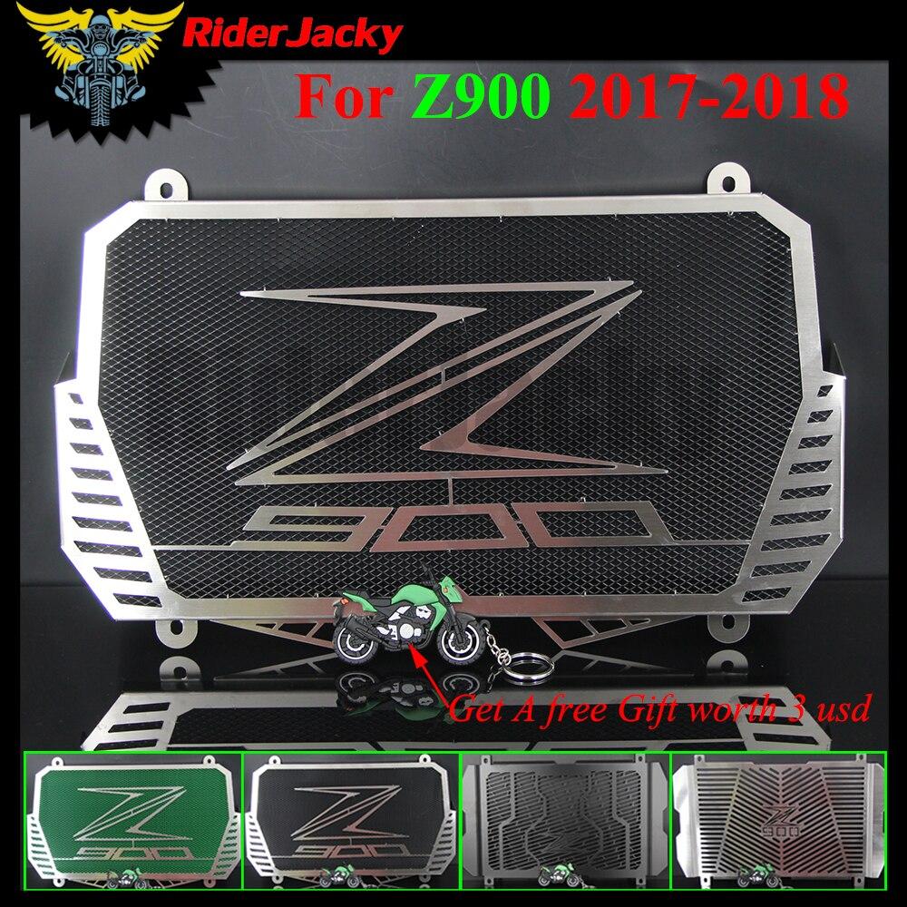 RiderJacky For Kawasaki Z900 Z 900 2017 2018 Motorcycle Radiator Guard Protective Mesh Grille Cover for