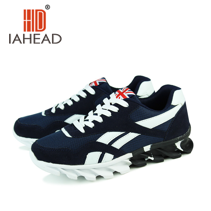 2017 Spring Autumn Men Blue Red Trainers Casual Shoes Breathable Mesh Men Shoes Fashion Lace Up Flats Male Plus Size 39-48 MeA88