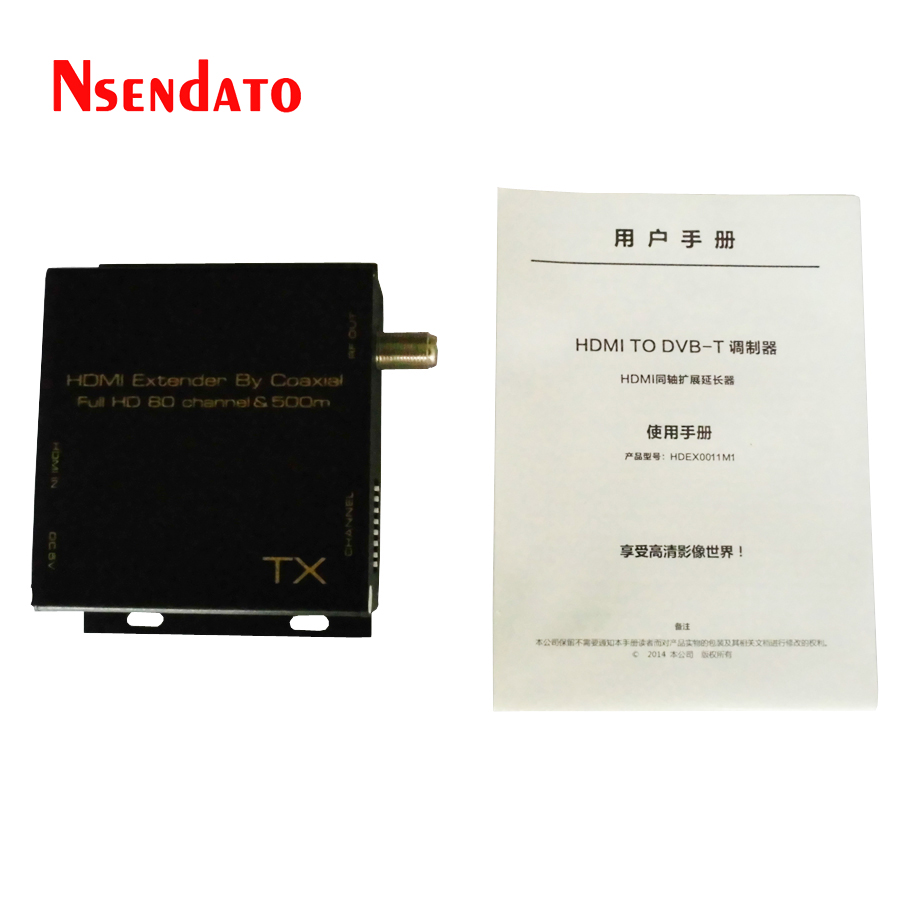 HDMI TO DVB-T Modulator Convert HDMI Extender Signal To HD Digital DVB-T TV Receiver Support RF Output