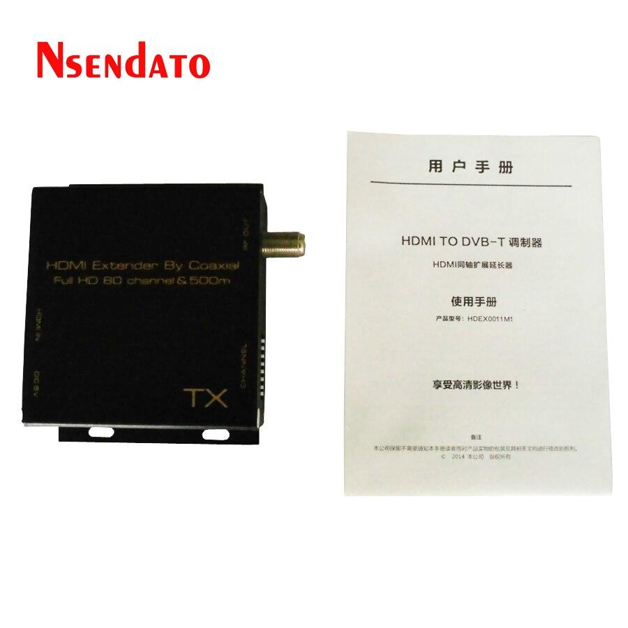 Hdmi-dvb-t модулятор конвертировать сигнал HDMI Extender в HD цифровой DVB-T ТВ приемник Поддержка RF выход