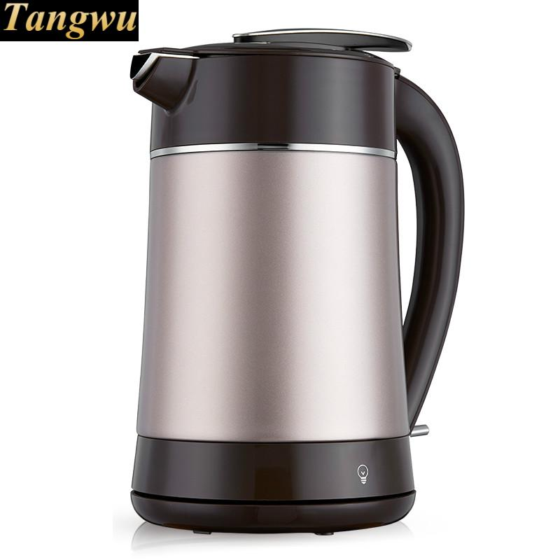 Boiling water pot vacuum insulated double cup body against overflow electric kettle недорго, оригинальная цена