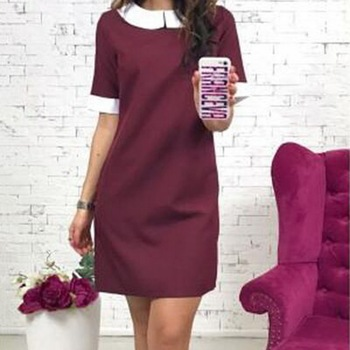 Women A-Line Short Sleeve Dress 2018 Summer