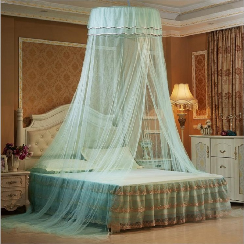 European Hung Dome Mosquito Net For Girl Double Canopy Bed Curtains Elegant  Lace Princess Circular Nets Summer Bedroom HomeDecor-in Mosquito Net from  Home ...