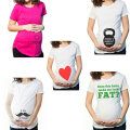 Pregnant Maternity T Shirts Shorts Casual Pregnancy Clothes  Funny For Pregnant Women Marternity Clothing Cotton Summer 2016