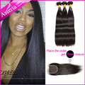 Asteria Hair Company Brazilian Virgin Hair Straight 7A Unprocessed Brazilian Straight Human Hair 3 Bundles Natural Black Color