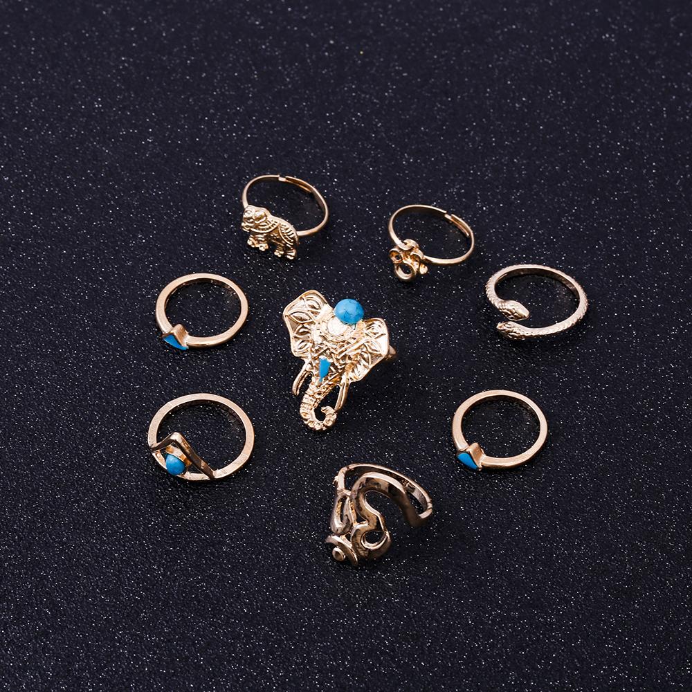 HTB1U3voRVXXXXXZXXXXq6xXFXXXz Fashionable 8-Pieces Boho Retro Spirituality Symbols Stackable Midi Ring Set