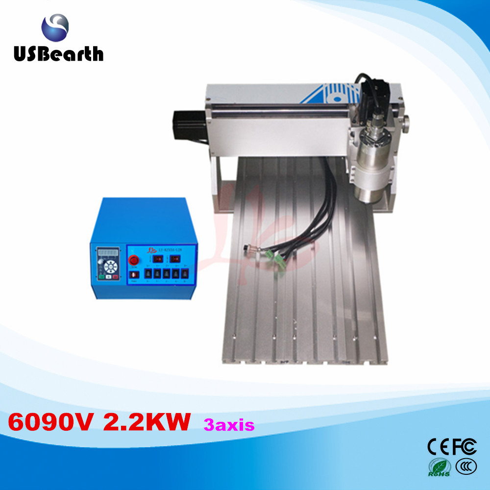 LY 6090V 2.2KW 3 axis mini CNC carving machine lathe VFD controller for 3D metal milling work duty free to RU ly 6090v 2 2kw 3 axis mini cnc carving machine lathe vfd controller for 3d metal milling work duty free to ru