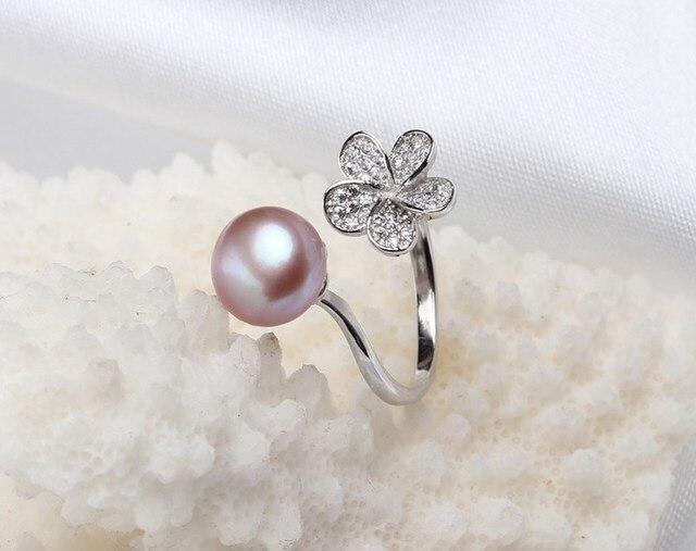 Anneau de perles deau douce de mode réglable gracieux beau bijoux belle recherche accessoire pour dame de charme femmes