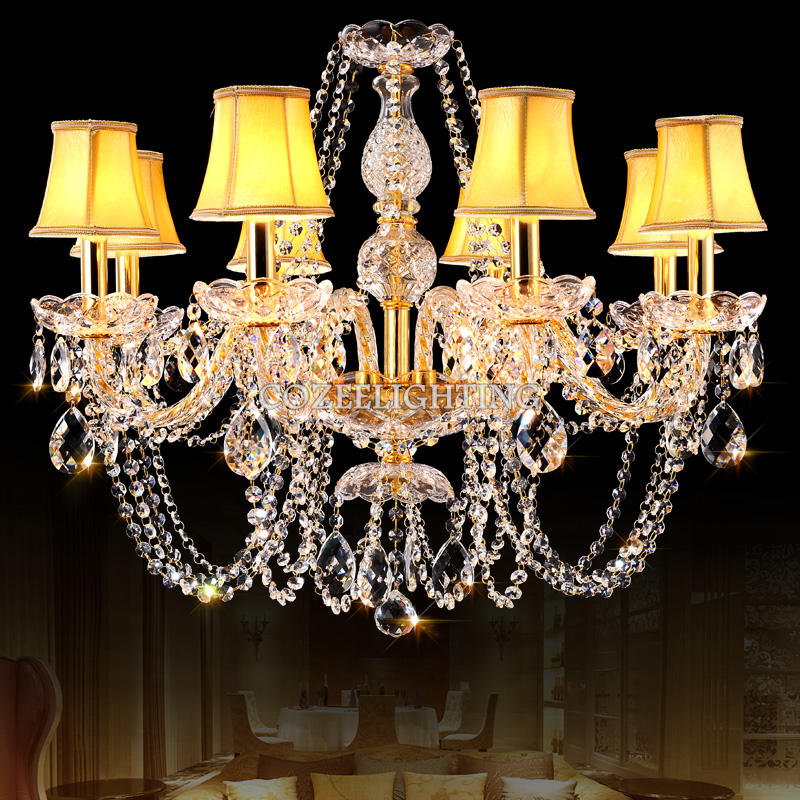 ФОТО Modern Crystal Chandelier Hanging Lighting European Style LED Chandeliers Light for Living Dining Room Bedroom Restaurant Decor