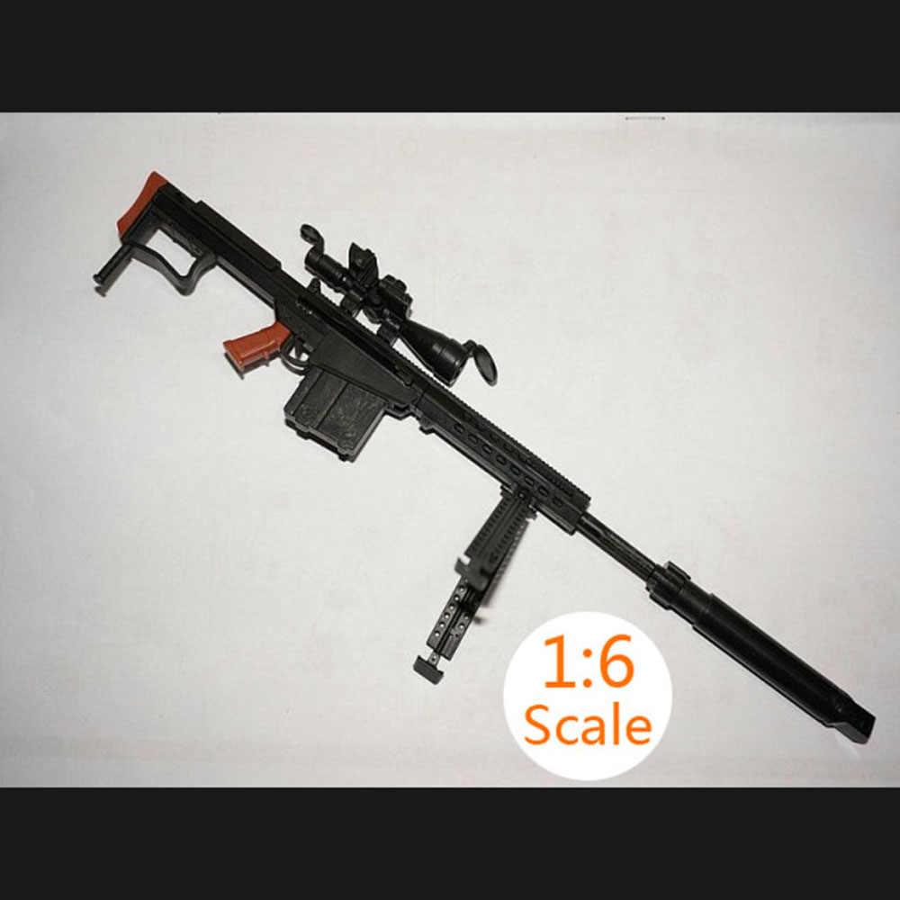 1:6 1/6 escala 12 polegada figuras de ação m82a1 sinper rifle arma modelo para 1/100 mg bandai gundam modelo crianças brinquedo cor aleatória hyy0324