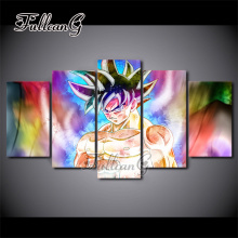 FULLCANG 5PCS Diy Full Square Diamond Embroidery Anime Dragon Ball Gok Painting Cross Stitch Mosaic Needlework Kits G271