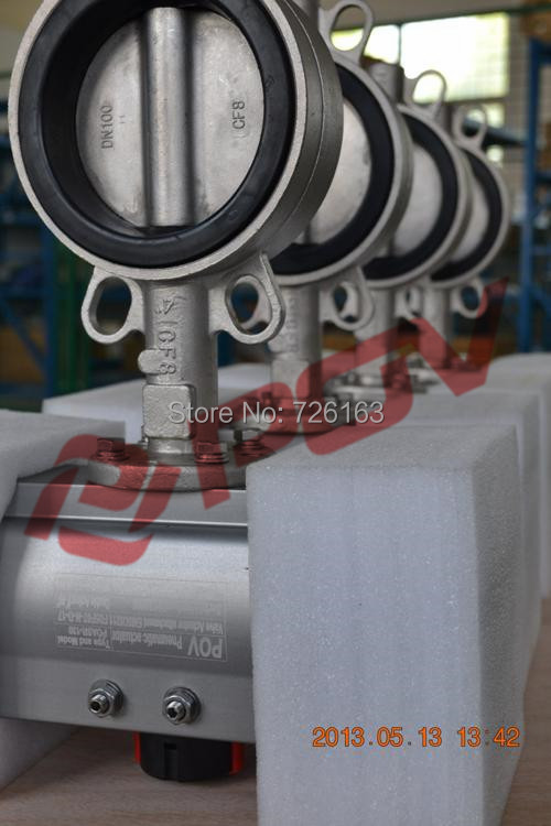 epdm seal pneumatic stainless steel butterfly valve