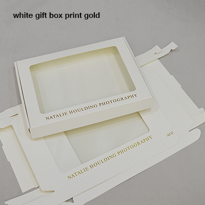 white paper box with gold print-400pcs