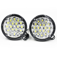 2Pcs 12V 18 LED Round Car Driving Daytime Running Light DRL Fog Lamp Bright White Car