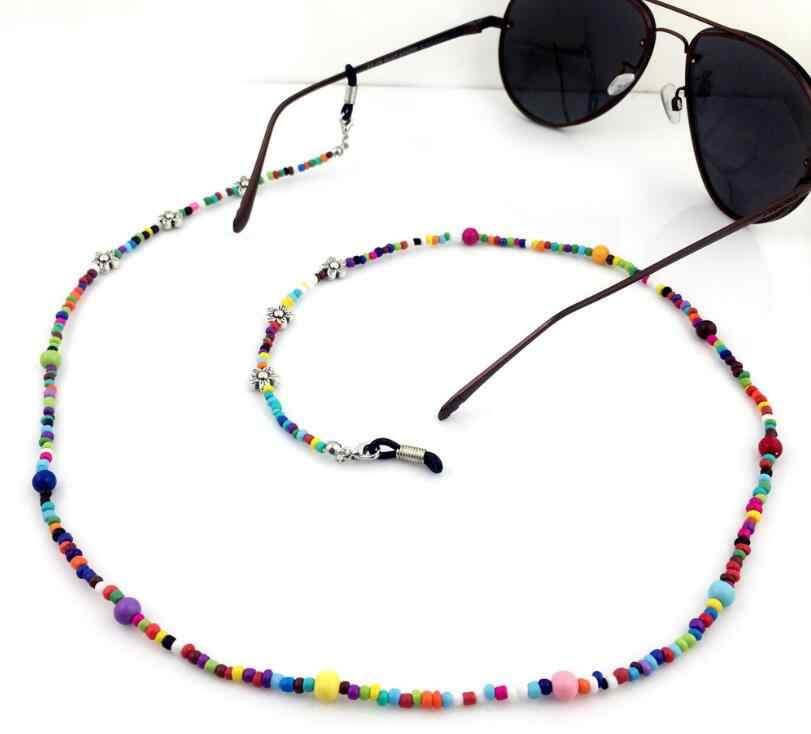 New Women Fashion Colorful Beaded Eyeglass Chains Girls Eyewears Sunglasses  Glasses Chain Cord Holder neck strap Rope