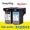Toney King PG 512 чернильный картридж PG 512 CL513 CL 513 для Canon Pixma iP2700 iP2702 MP240 MP250 MP252 картриджи для принтера