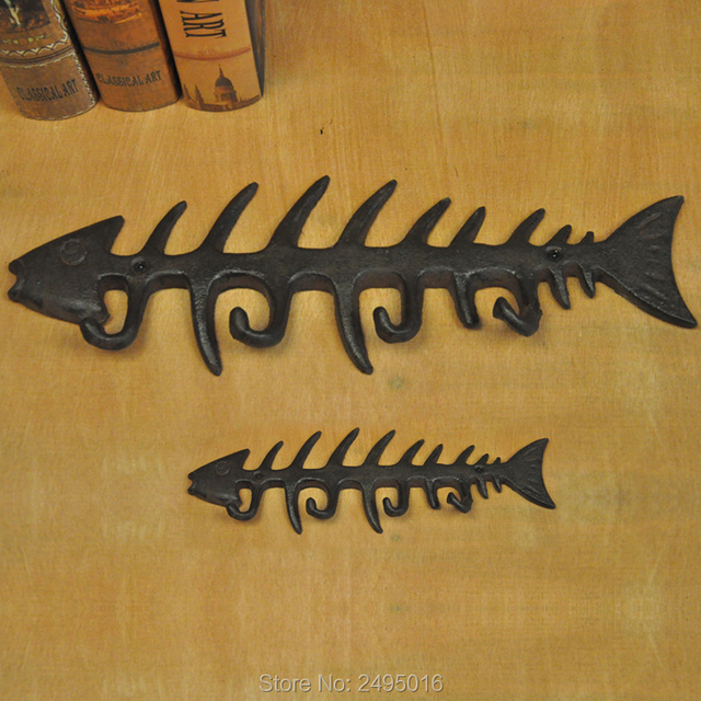 Decorative Fish Bones Wall Mount Towel Rack by Comfify Stylish Cast ...
