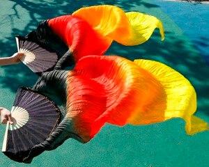 Image 4 - 2019 kobiet wysokiej jakości Pasang perut 100% sutra FAN kerudung merah muda dla mężczyzn biru czarny + czerwony + żółty