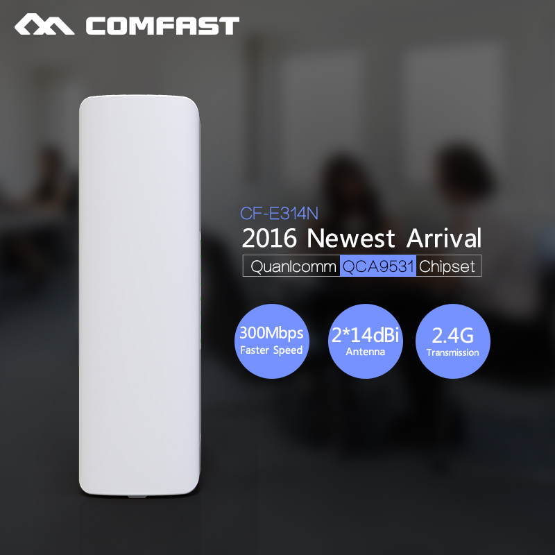 300Mbps CPE Outdoor wifi router 2*14dBi wifi antenna 500mw high power 2.4g Long distance rj45 poe Wireless bridge 2 4ghz 300mbps outdoor cpe router long distance wifi router high power wifi signal booster