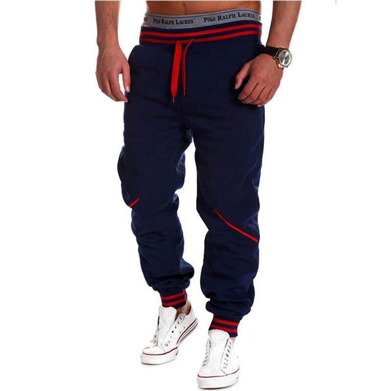2016 Solid Color Mens Joggers Casual Straight Pants Men Loose Sweatpants Trousers Men Hip Hop Pants Size M-XXL
