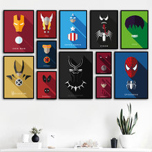 Wall Art Canvas Painting Marvel Super Hero Iron Man Spider Man Venom Movie Posters And Prints Wall Pictures Baby Kids Room Decor(China)