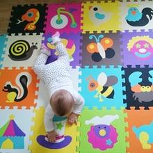 18 unidades patrón Niño puzzle Mat Alfombra Gatear Alfombra de Juegos de Bebé estera de Arrastre Del Bebé Estera Alfombra Niños Alfombra Niños Juguetes perro pollo