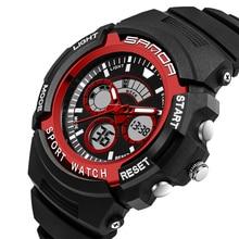 Reloj de la marca de Moda Led Reloj Digital de Silicona Deportes Para Hombre Reloj de Cuarzo Militar Del Ejército Relojes Masculinos Impermeable relogio masculino