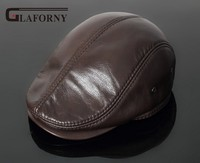 Glaforny 2017 New Style Men S Real Genuine Leather Baseball Cap Brand Newsboy Beret Hat Winter
